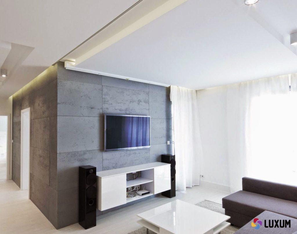 Minimalistyczny apartament wKrakowie beton architektoniczny
