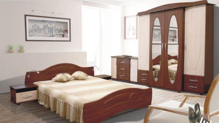zestaw mebli do sypialni łozko szafki