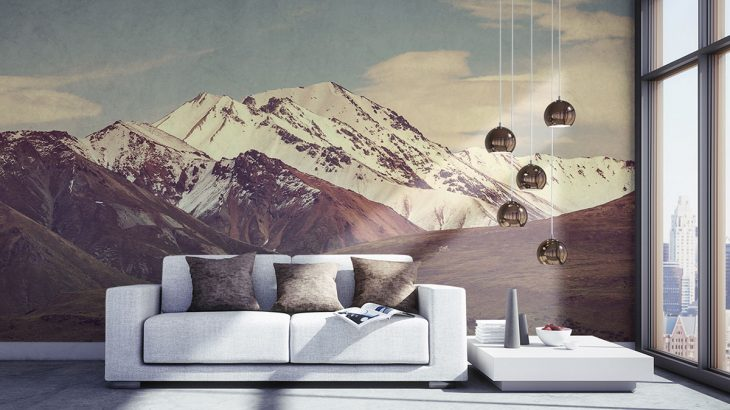 Fototapety z górami, czyli na szlaku eleganckich i stylowych ozdób wnętrza